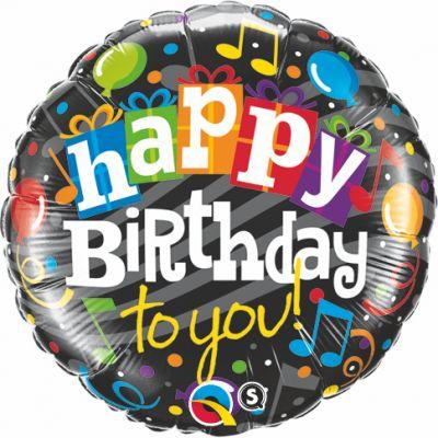 "Qualatex Foil 45cm (18"") Happy Birthday to You"