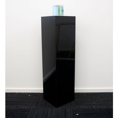 Acrylic Square Plinth (300 x 300 x 1100mmH) Black
