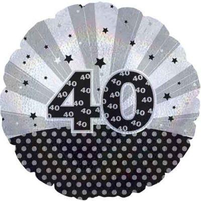 "Cti Foil 18"" Dazzeloon 40th Birthday"