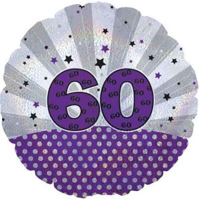 "Cti Foil 18"" Dazzeloon 60th Birthday"