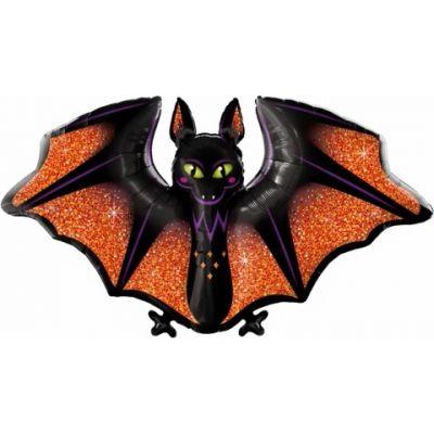 "Qualatex Foil Shape 100cm (50"") Glitzy & Glam Bat"