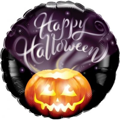 """Qualatex Foil 45cm (18"""") Round Halloween Wispy Smoke"""
