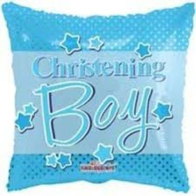 "Kaleidoscope Foil 18"" Christening Boy (Unpackaged)"