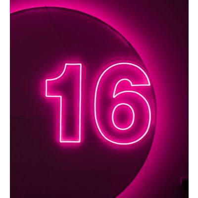LED Sign 16 (100cm x 78cm) Light Pink