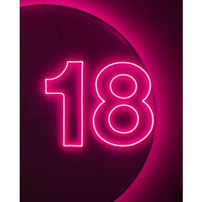 LED Sign 18 (100cm x 78cm) Light Pink