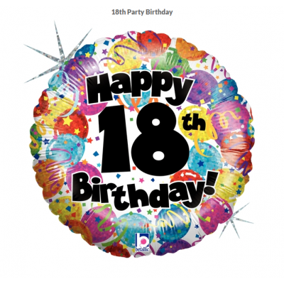 Betallic Foil Holographic 45cm 18th Party Birthday