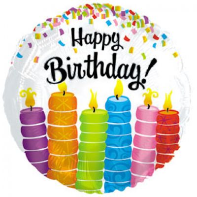 CTI Foil 45cm Happy Birthday Colourful Candles