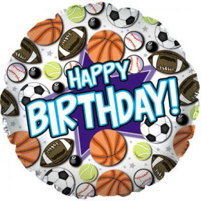 CTI Foil 45cm Happy Birthday Sports