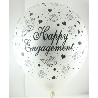 Happy Engagement Pearl White