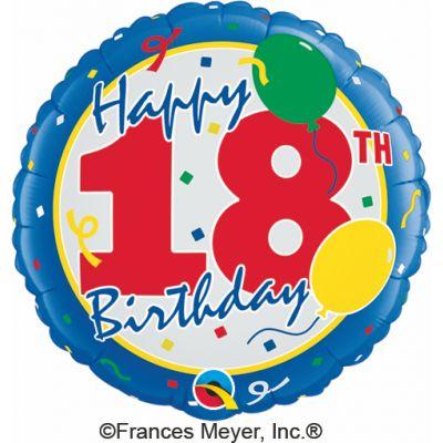 "Qualatex Foil 18"" 18th Birthday (discontinued)"