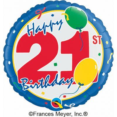 """Qualatex Foil 18"""" 21st Birthday"""