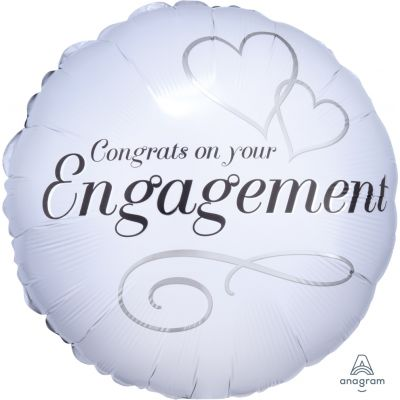 Anagram Foil 45cm Two Hearts Engagement