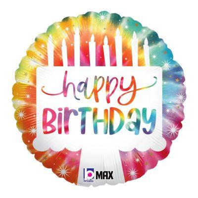 "Betallic Foil 18"" Tie-Dye Cake Birthday"