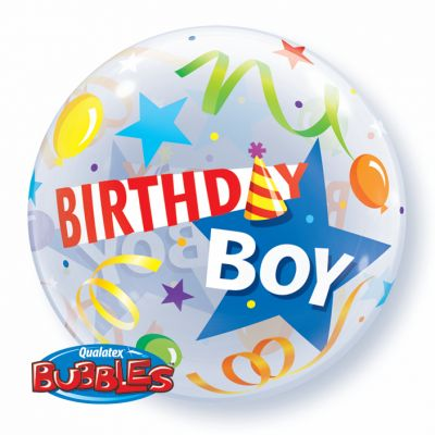 "Qualatex Bubble 56cm (22"") Birthday Boy Party Hat"