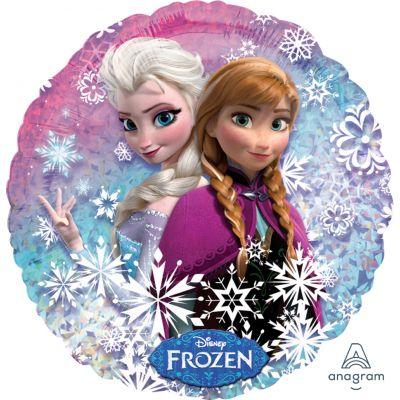 """Anagram Licensed Foil 45cm (18"""") Holographic Frozen Anna and Elsa"""