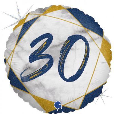 Grabo Foil Round 45cm #30 Blue Marble