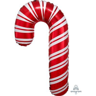 Anagram Foil Supershape Holiday Candy Cane (50cm x 93cm)
