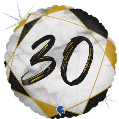 Grabo Foil Round 45cm #30 Black Marble