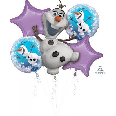 Anagram Licensed Foil Balloon Bouquet Kit Frozen Olaf