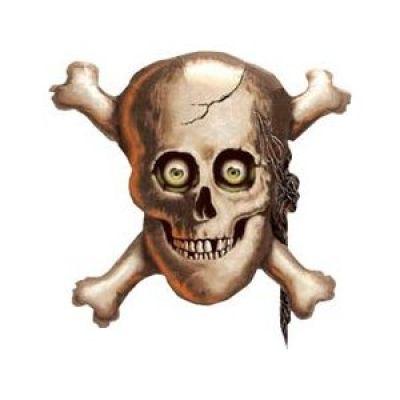 "Qualatex Foil Shape 81cm (32"") Skull & Crossbones"