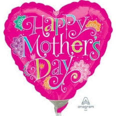 """Anagram Microfoil 22cm (9"""") Mothers Day Doodles - Air fill (unpackaged)"""