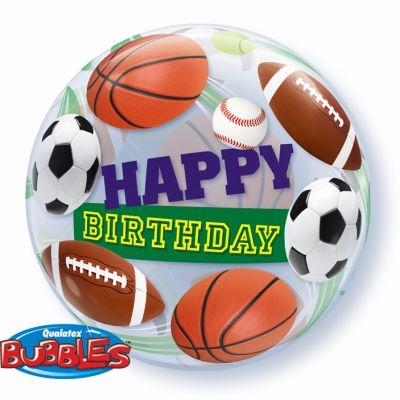 "Qualatex Bubble 56cm (22"") Birthday Sport Balls"