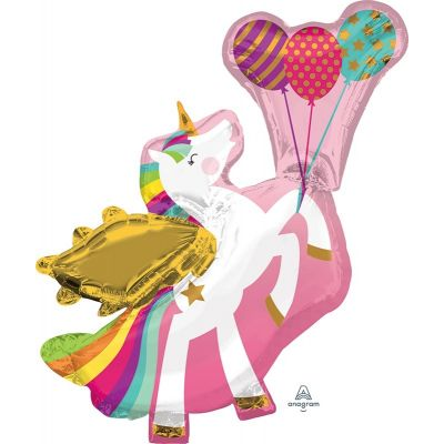 Anagram Foil Shape Winged Unicorn