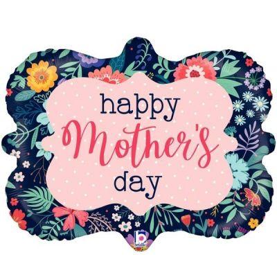"Betallic Foil Shape 30"" Mothers Day Navy Frame"