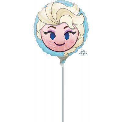 "Anagram Licensed Microfoil 22cm (9"") Frozen Elsa Emoji - Air fill (unpackaged)"