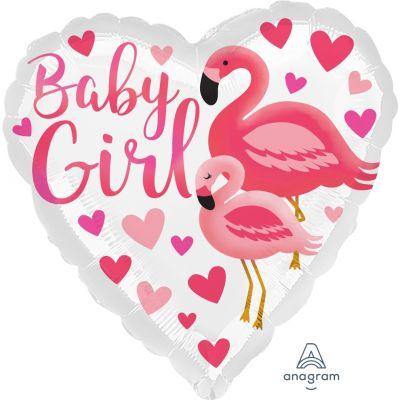 Anagram Foil 45cm Flamingo Baby Girl