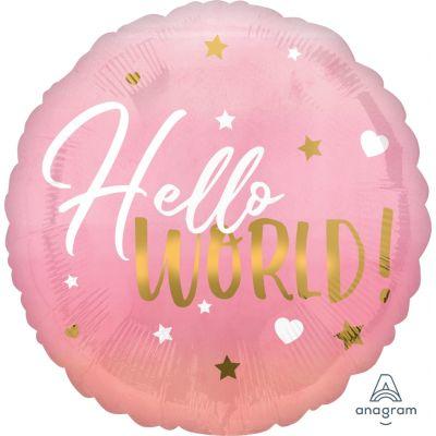 Anagram Foil 45cm Baby Girl Hello World