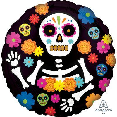 "Anagram Foil 45cm (18"") Day of the Dead Skeleton"