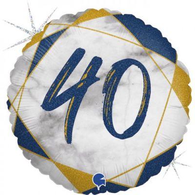 Grabo Foil Round 45cm #40 Blue Marble