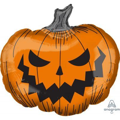 Anagram Foil SuperShape Hallows' Eve Pumpkin (73cm x 68cm)
