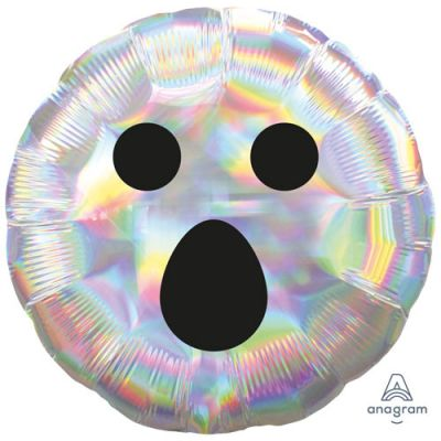 """Anagram Foil 45cm (18"""") Holographic Iridescent Ghost Face"""