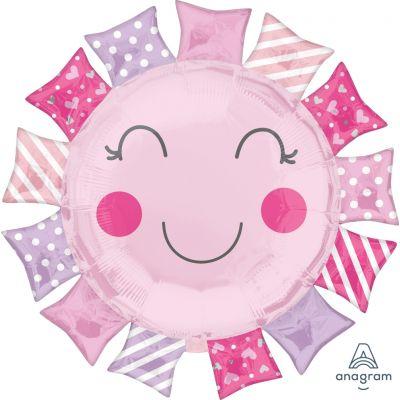 Anagram Foil SuperShape Baby Girl Sunshine (68cm x 68cm)