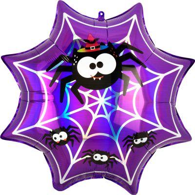 Anagram Foil SuperShape Iridescent Spiderweb (55cm x 55cm)
