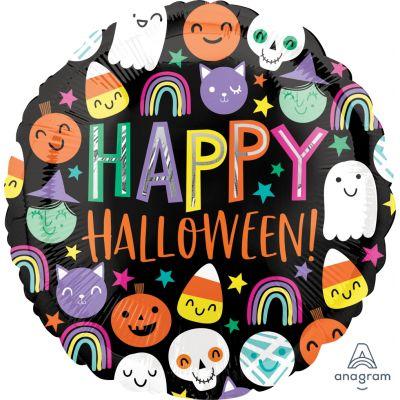 "Anagram Foil 45cm (18"") Halloween Happy Faces"