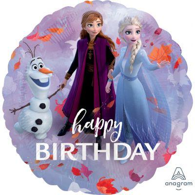 "Anagram Licensed Foil 45cm (18"") Frozen 2 Happy Birthday"