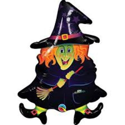 """Qualatex Micro-Foil 35cm (14"""") Wacky Witch(Air Fill & Unpackaged)"""
