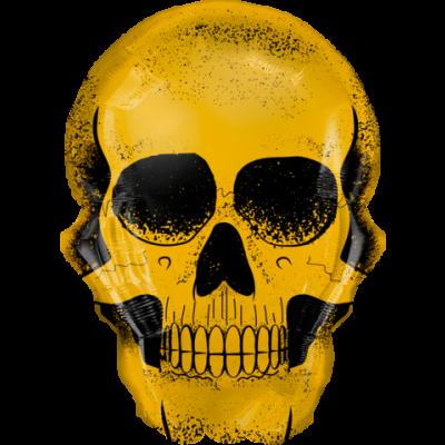 """Qualatex Foil Shape 91cm (36"""") Golden Skull"""