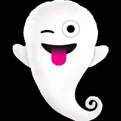 "Qualatex Foil Shape 86cm (34"") Emoticon Ghost"