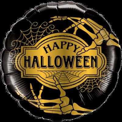 """Qualatex Foil 45cm (18"""") Halloween Golden Skeleton (new)"""