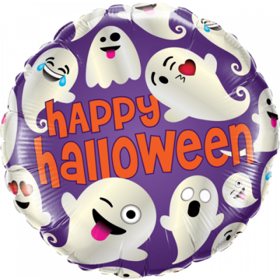 "Qualatex Foil 45cm (18"") Halloween Emoticon Ghosts (new)"
