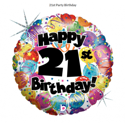 Betallic Foil Holographic 45cm 21st Party Birthday