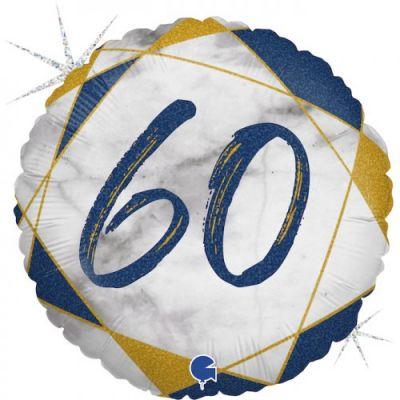 Grabo Foil Round 45cm #60 Blue Marble