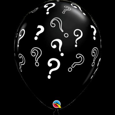 "Qualatex Printed Latex 50/40cm (16"") Question Marks (Gender Reveal)"
