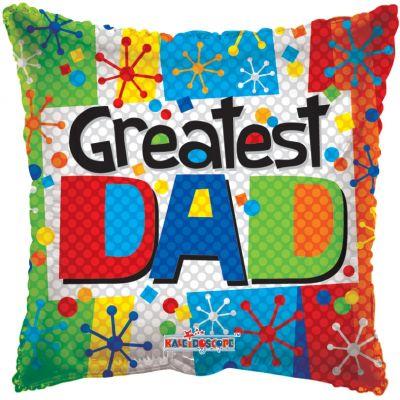 """Kaleidoscope Foil 18"""" Greatest Dad"""