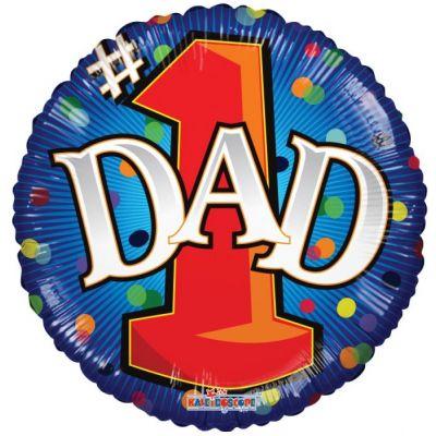"""Kaleidoscope Foil 18"""" #1 Dad"""