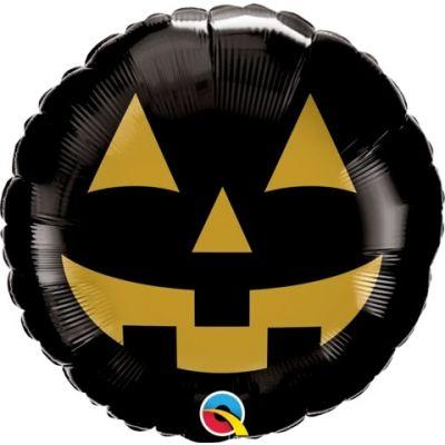 "Qualatex Foil Shape 89cm (35"") Jack Face Black & Gold"
